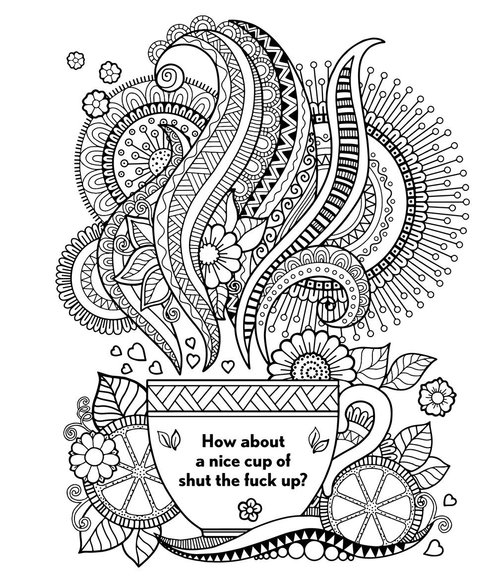 Coloring Pages For Adults Words  Free Printable Coloring Pages For Adults Swear Words