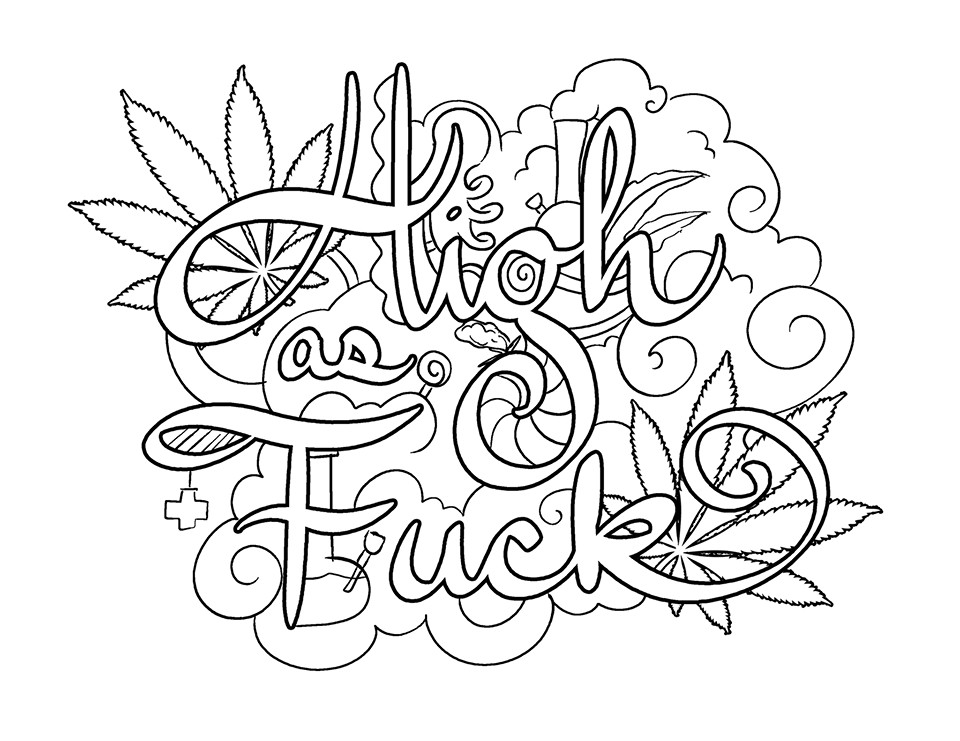 Coloring Pages For Adults Words  Pin by Tamie White on Swear Words Adult Coloring Pages
