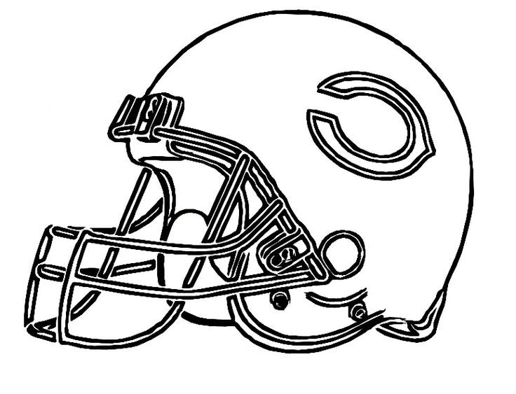 Coloring Pages For Boys Bears Football  Football Helment Drawing at GetDrawings