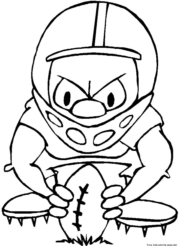 Coloring Pages For Boys Bears Football  printable nfl football coloring pages for kidsFree