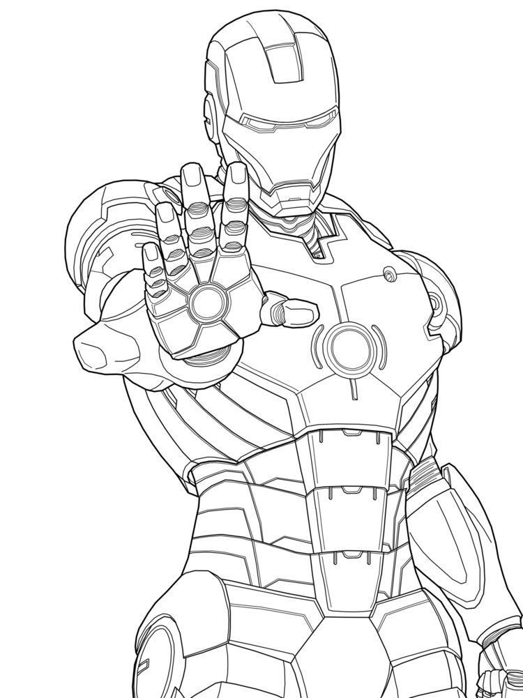 Coloring Pages For Boys Marvel  Iron Man Marvel Iron Man Coloring Pages Free Printable