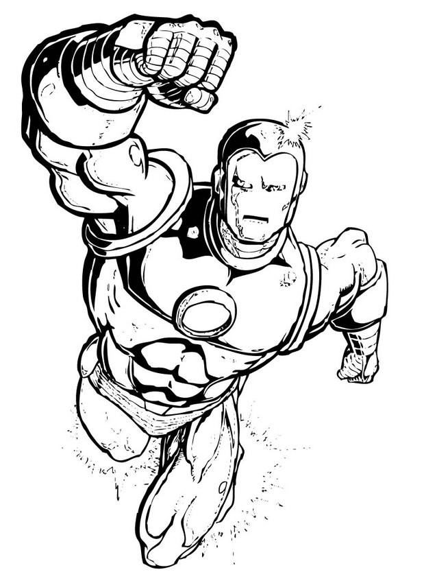 Coloring Pages For Boys Marvel  Superhero Archives Bestofcoloring