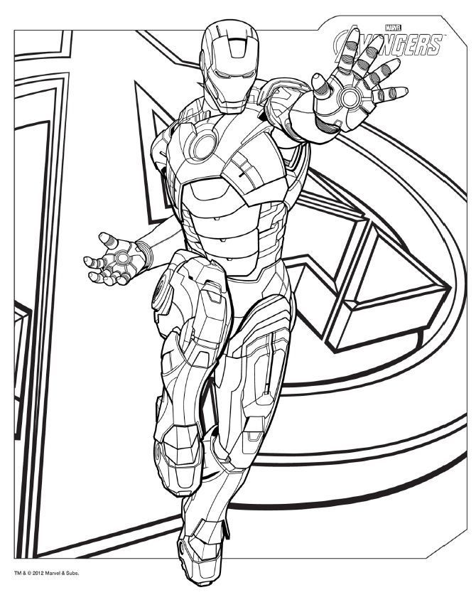 Coloring Pages For Boys Marvel  Avengers Coloring Pages Best Coloring Pages For Kids