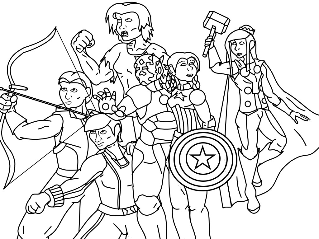 Coloring Pages For Boys Marvel  Avengers Kotor2 Character Outline by KalmaStari on DeviantArt