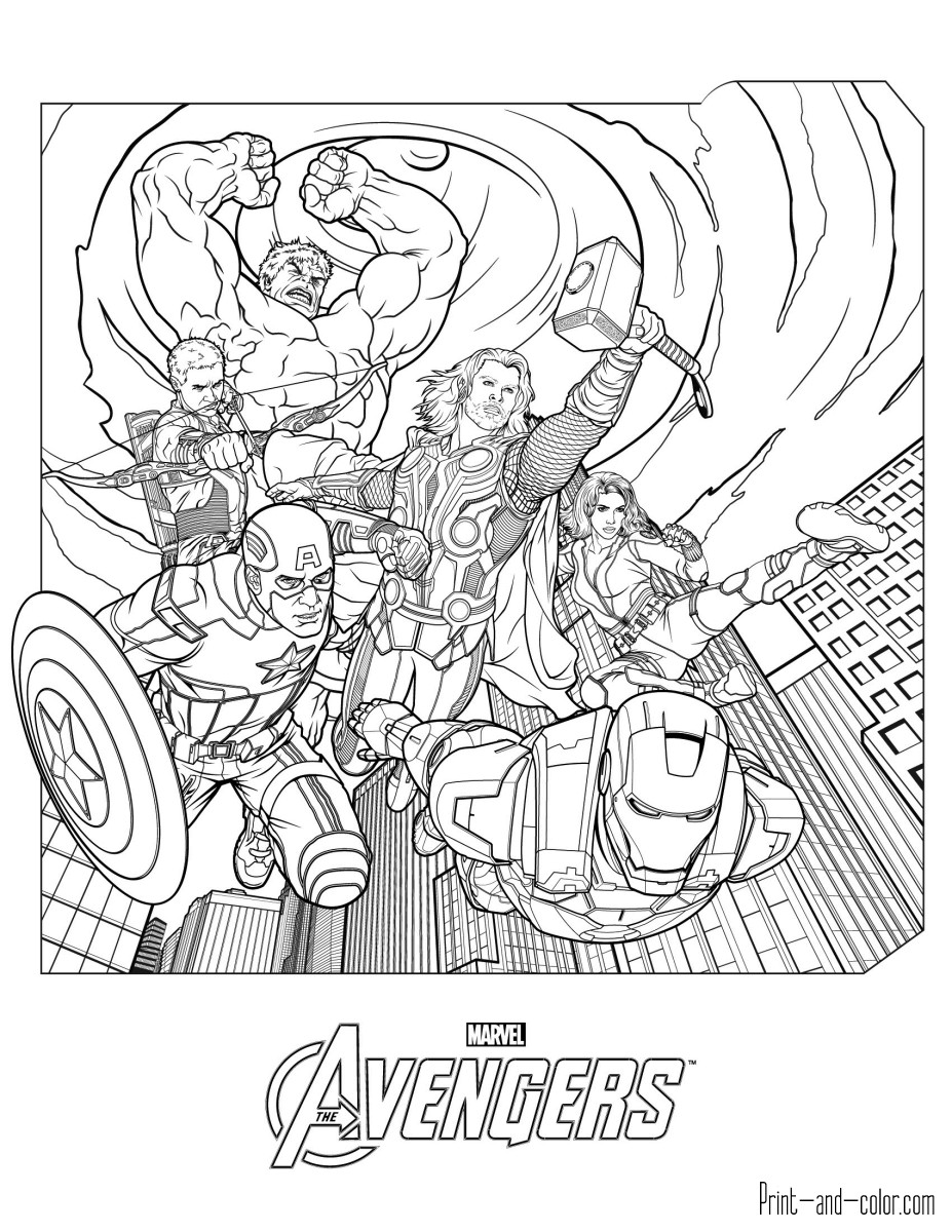Coloring Pages For Boys Marvel  Avengers coloring pages