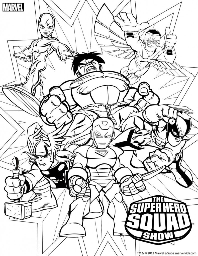 Coloring Pages For Boys Marvel  171 dessins de coloriage super héros à imprimer sur