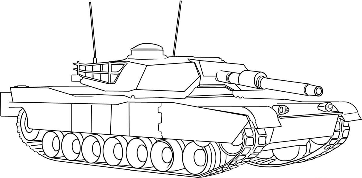 Coloring Pages For Boys Tanks  Army tanks coloring pages