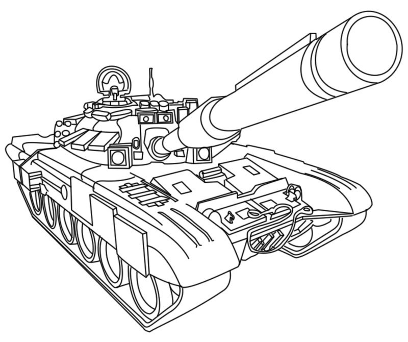 Coloring Pages For Boys Tanks  Tanque militar HD