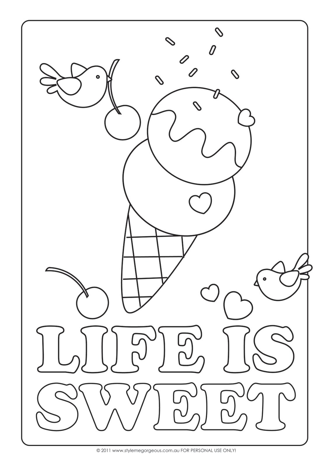 Coloring Pages For Girls 11 And Up  Simple Coloring Ice Cream Pages For Kids grig3