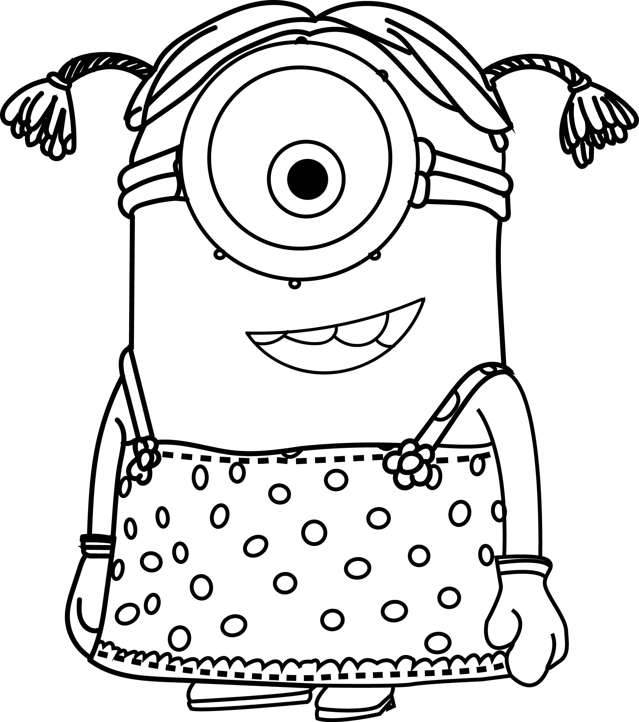 Best ideas about Coloring Pages For Girls 12 And Up . Save or Pin Girl Minions Coloring Pages Collection Now.