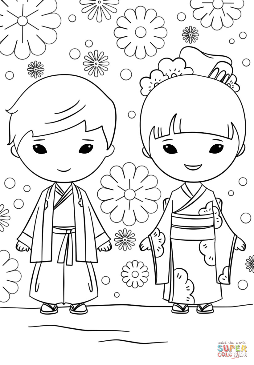 Coloring Pages For Girls And Boys To Print  Boy And Girl Coloring Pages