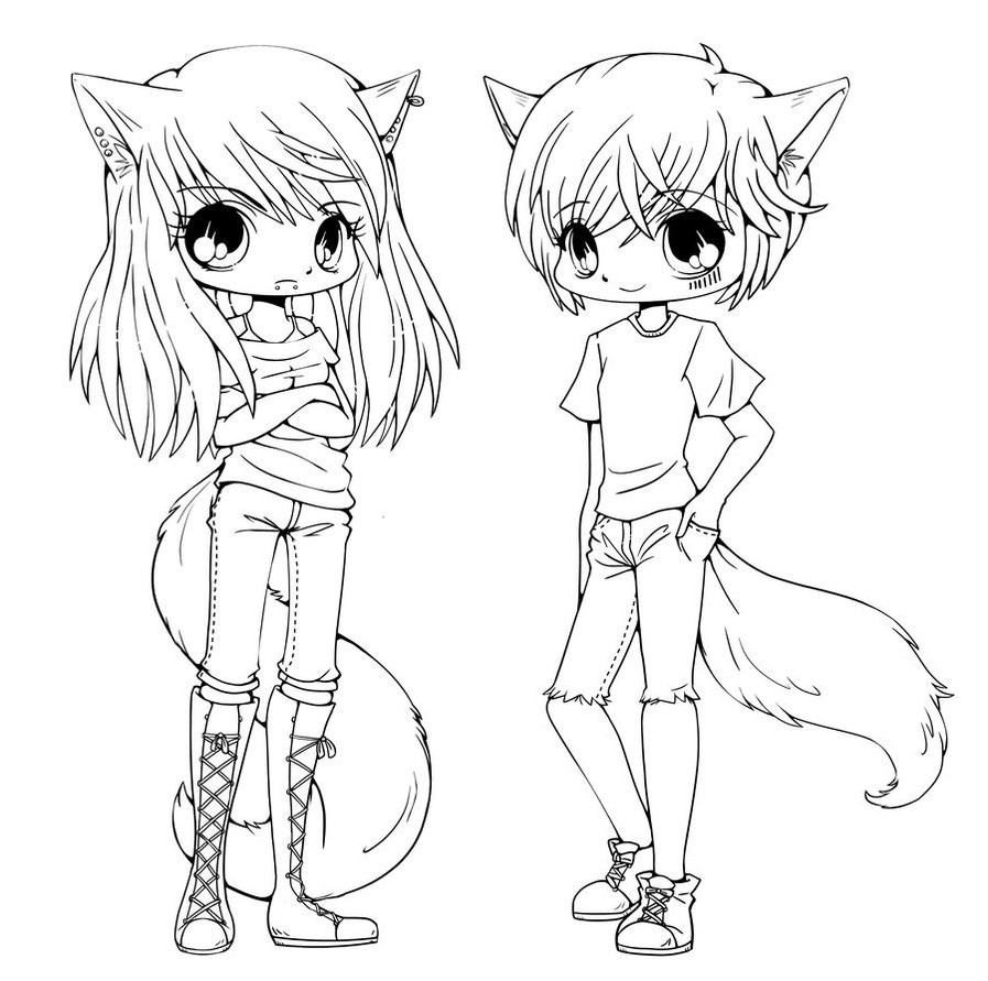 Best ideas about Coloring Pages For Girls Animals . Save or Pin Cute Anime Chibi Girls Coloring Pages Coloring Page For Now.