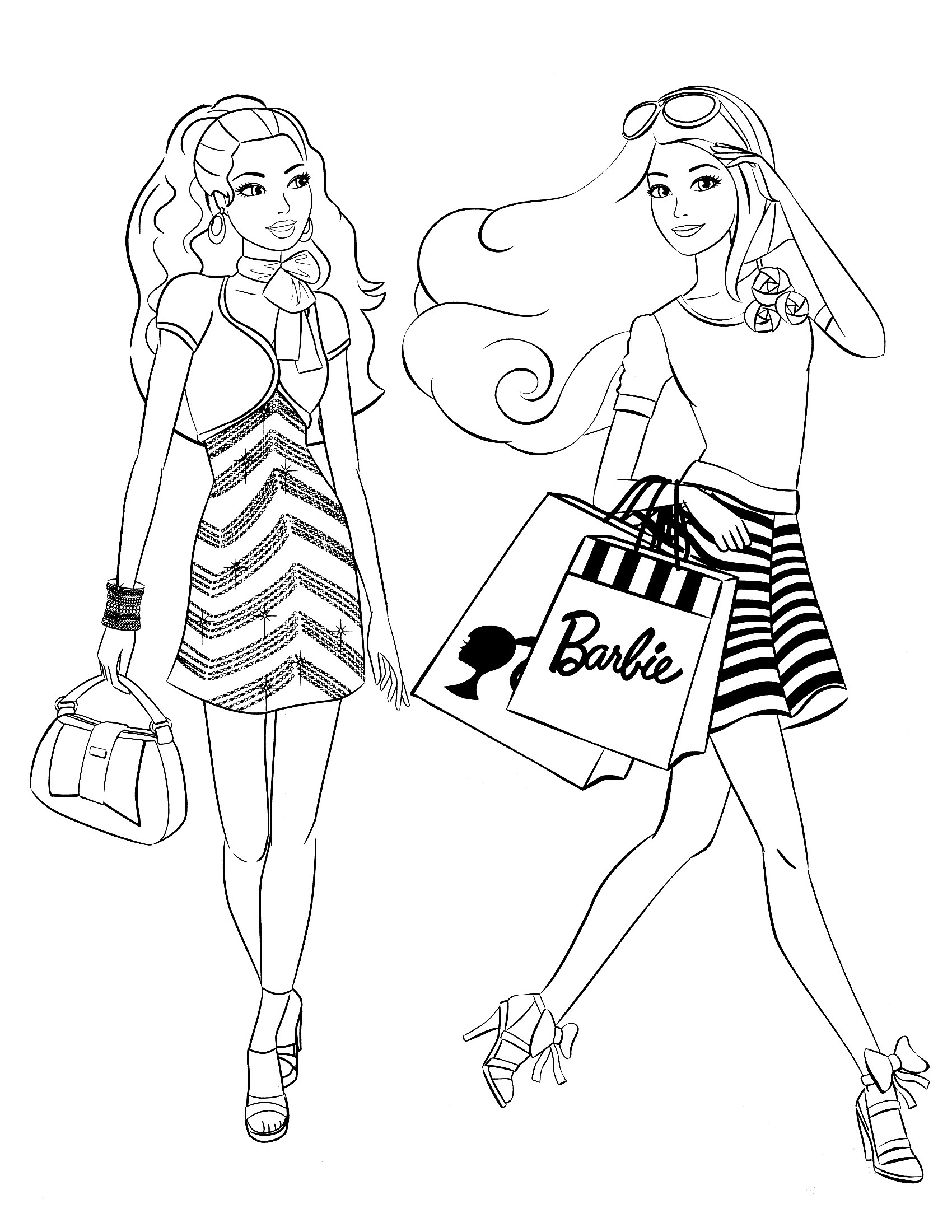 Coloring Pages For Girls Barbie  85 Barbie Coloring Pages for Girls Barbie Princess