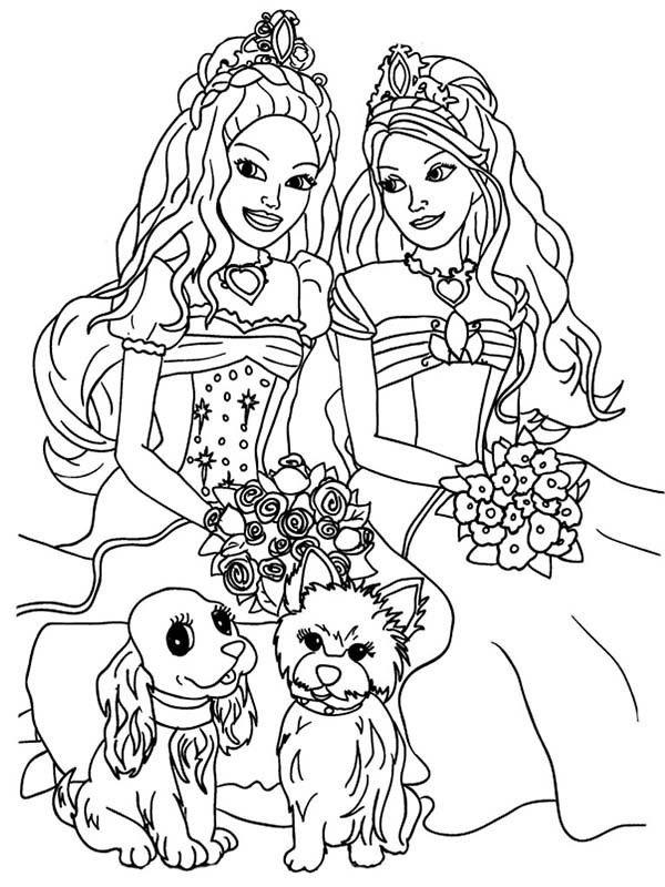 Coloring Pages For Girls Barbie  Barbie Coloring Pages