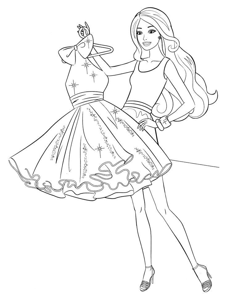 Coloring Pages For Girls Barbie  Free Printable Barbie Coloring For Girls Coloring pages
