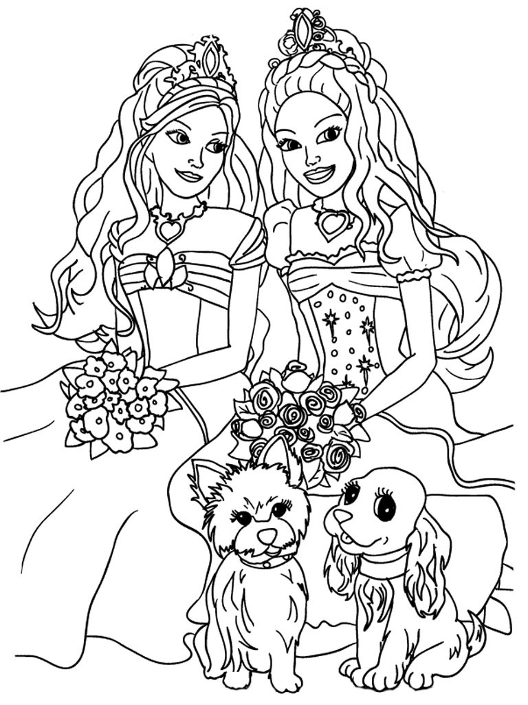Coloring Pages For Girls Barbie  Barbie Coloring Pages For Girls