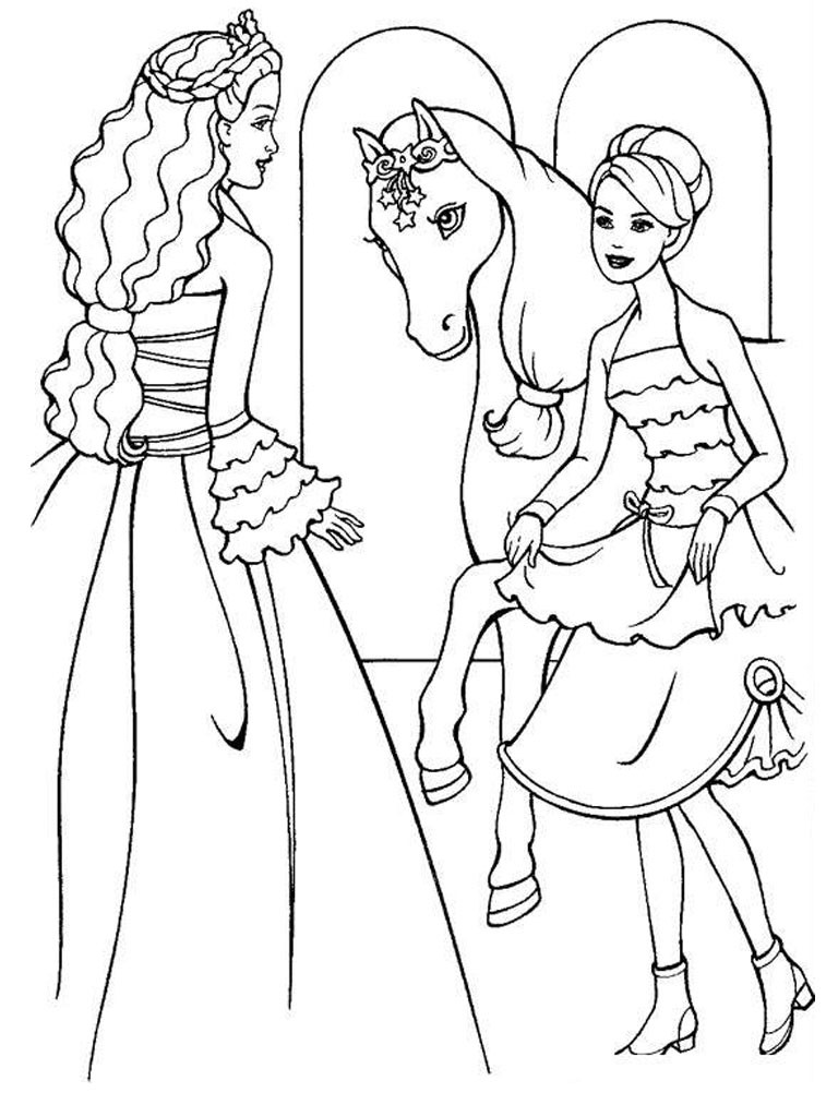 Coloring Pages For Girls Barbie  Free Printable Barbie Coloring Pages For Kids