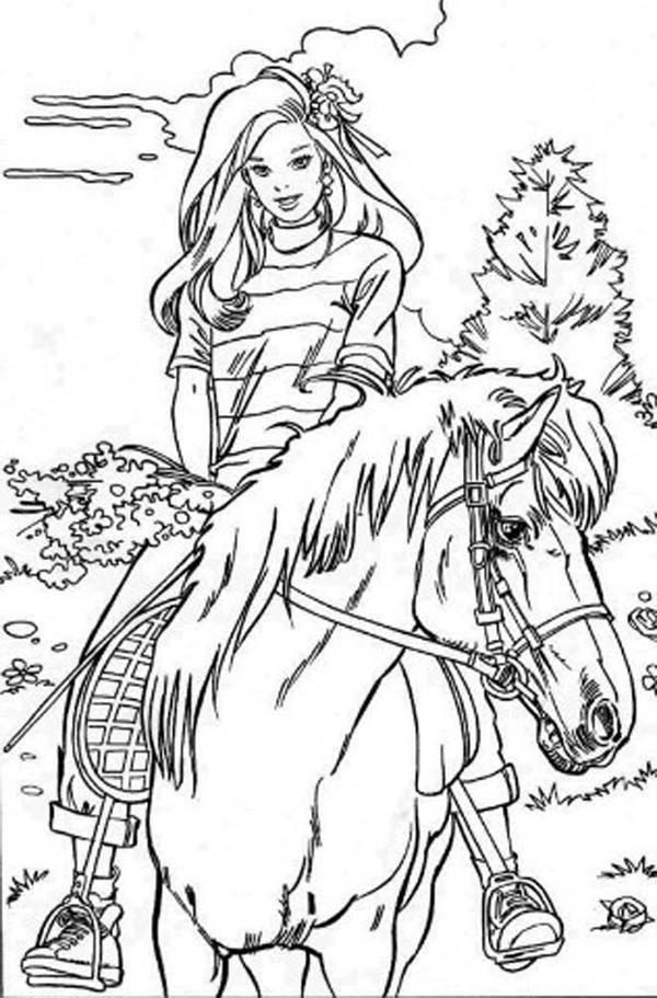 Coloring Pages For Girls Barbie  Coloring Pages For Girls To Print Out Barbie Tv Trays