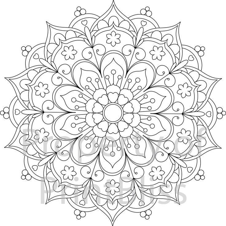 Coloring Pages For Girls Flower Mandala  Mandala Template Printable Printable 360 Degree