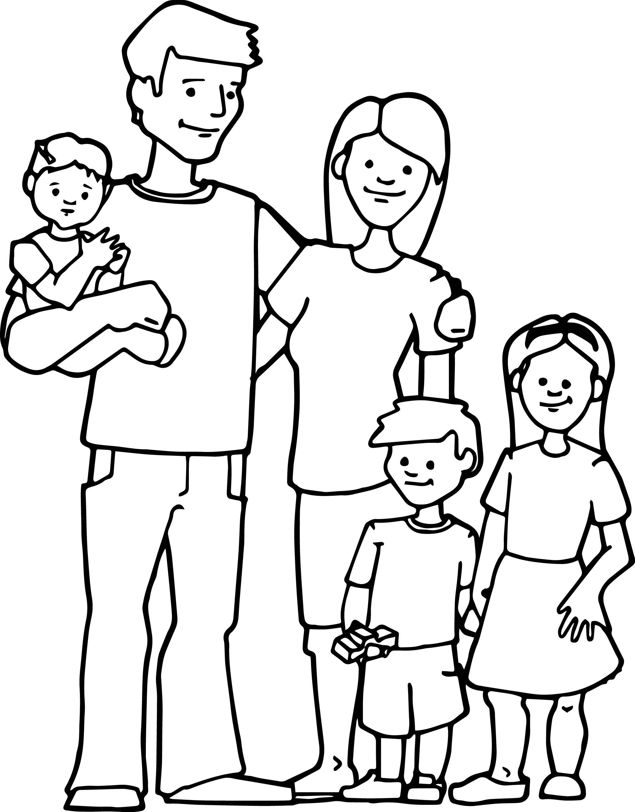 Best ideas about Coloring Pages For Girls From I Love My Family . Save or Pin Family Kids Coloring Page 2129×2722 Now.