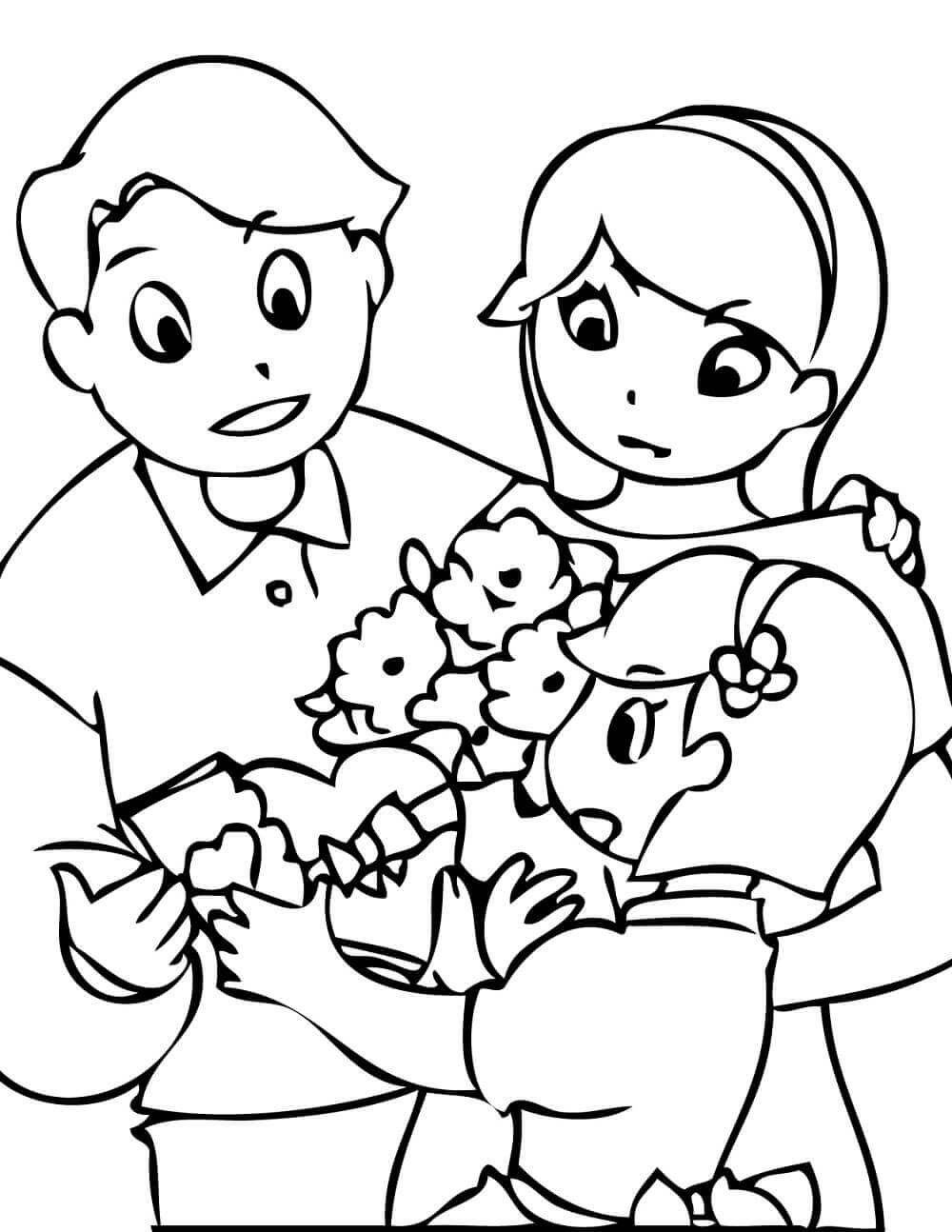 Best ideas about Coloring Pages For Girls From I Love My Family . Save or Pin Free Printable Valentine s Day Coloring Pages Now.