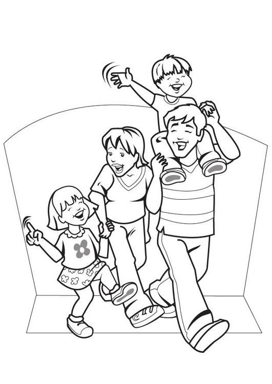 Best ideas about Coloring Pages For Girls From I Love My Family . Save or Pin Family Coloring Pages Bestofcoloring Now.