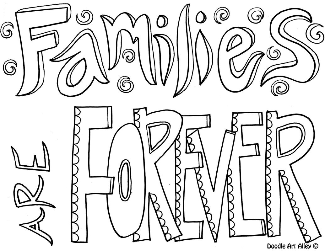Best ideas about Coloring Pages For Girls From I Love My Family . Save or Pin Family Quote Coloring Pages Doodle Art Alley Now.