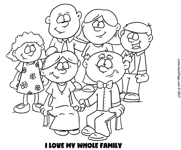 Best ideas about Coloring Pages For Girls From I Love My Family . Save or Pin I Love My Whole Family Coloring Pages Now.