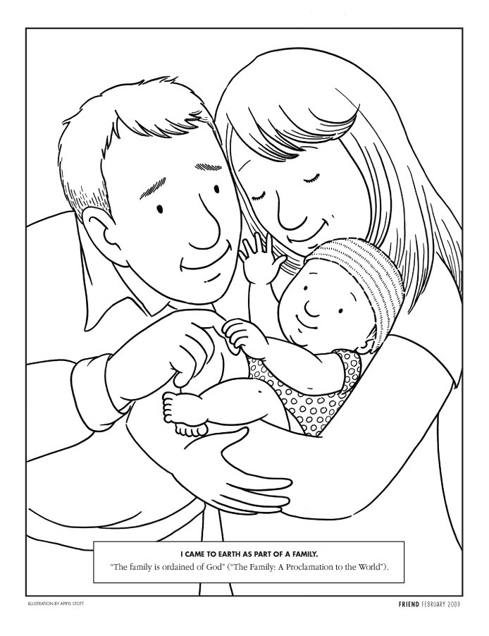Best ideas about Coloring Pages For Girls From I Love My Family . Save or Pin Lesson 11 I Love My Family Now.