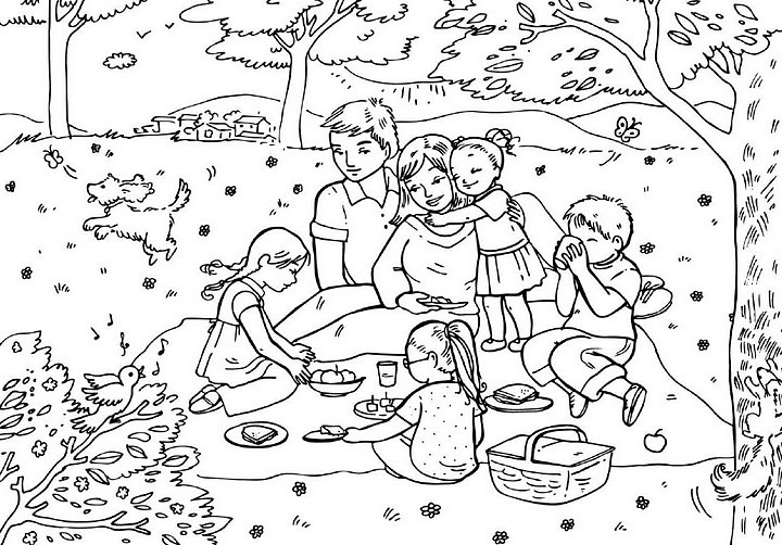 Best ideas about Coloring Pages For Girls From I Love My Family . Save or Pin Malvorlagen fur kinder Ausmalbilder Familie kostenlos Now.