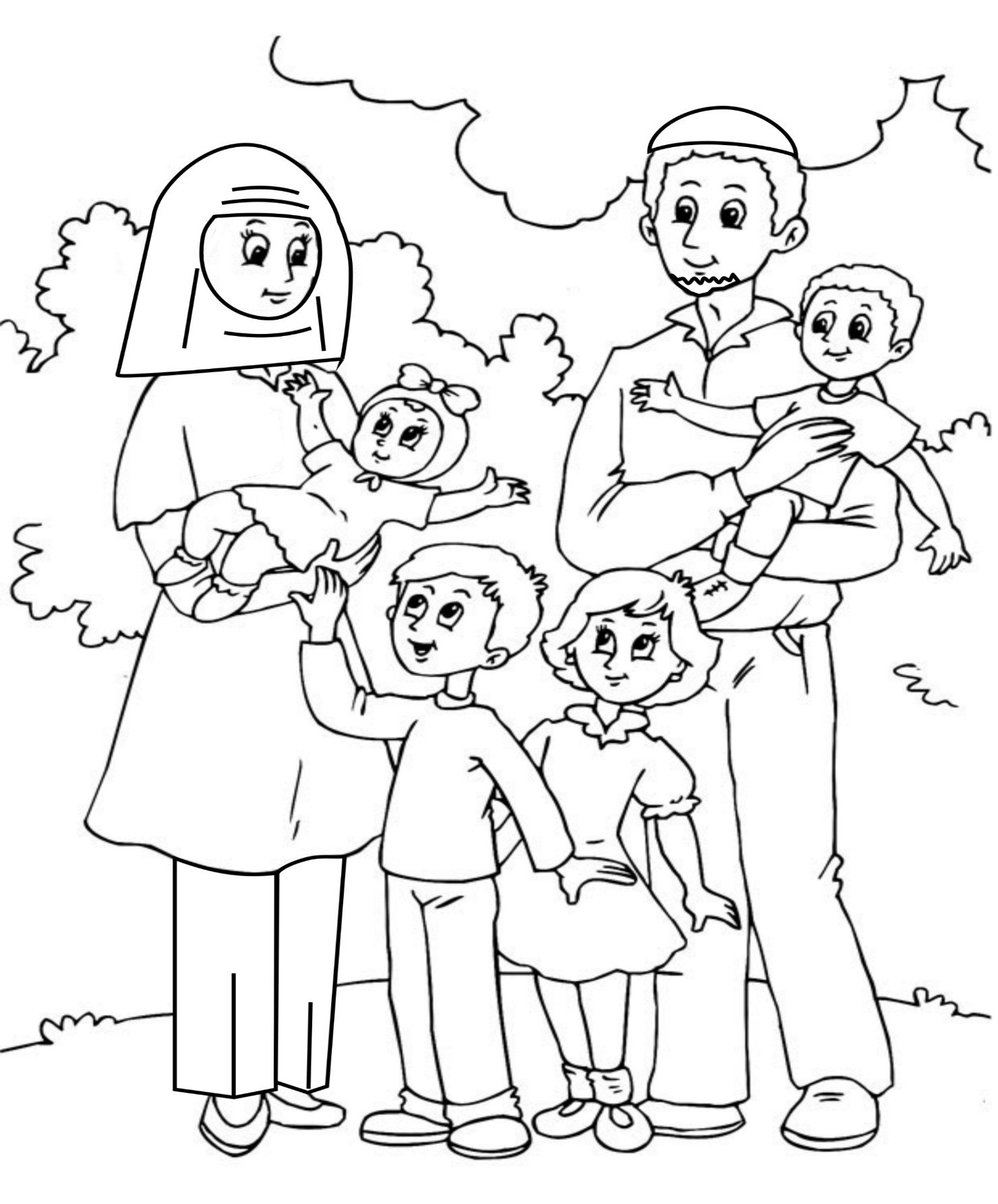 Best ideas about Coloring Pages For Girls From I Love My Family . Save or Pin Family Coloring Pages Now.