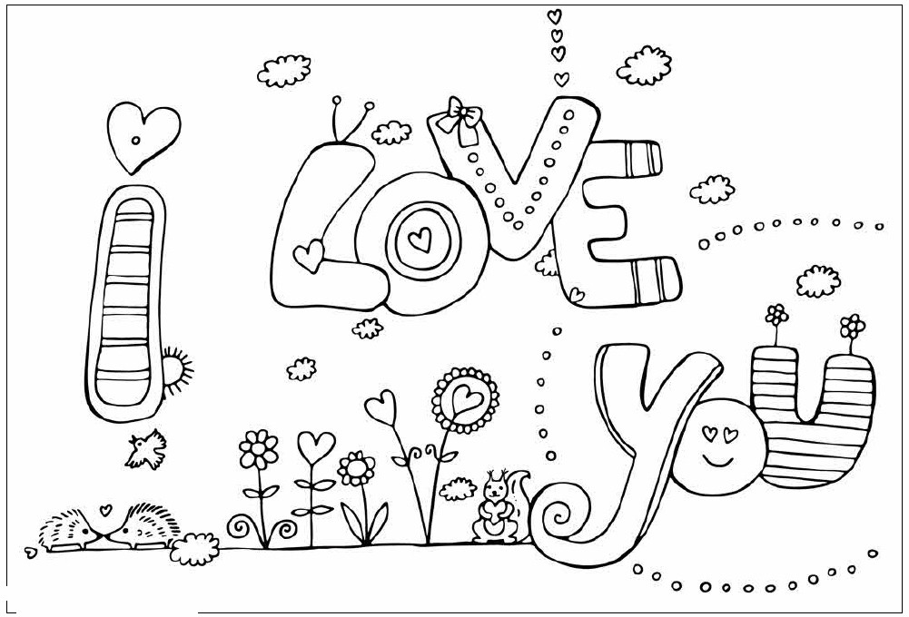 Best ideas about Coloring Pages For Girls From I Love My Family . Save or Pin I Love You Valentines Coloring Pages Now.