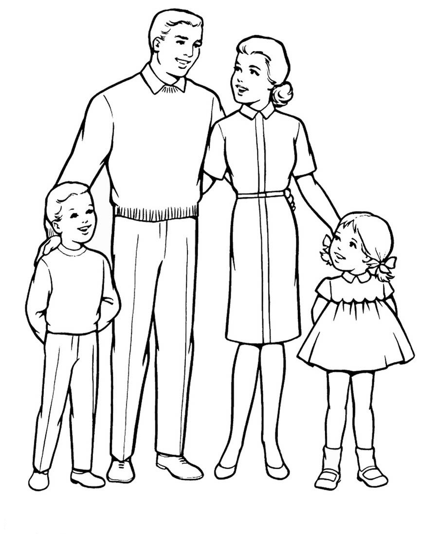 Best ideas about Coloring Pages For Girls From I Love My Family . Save or Pin Раскраска Семья детские раскраски распечатать бесплатно Now.