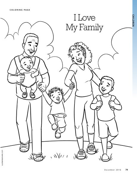 Best ideas about Coloring Pages For Girls From I Love My Family . Save or Pin I Love My Family liahona Now.