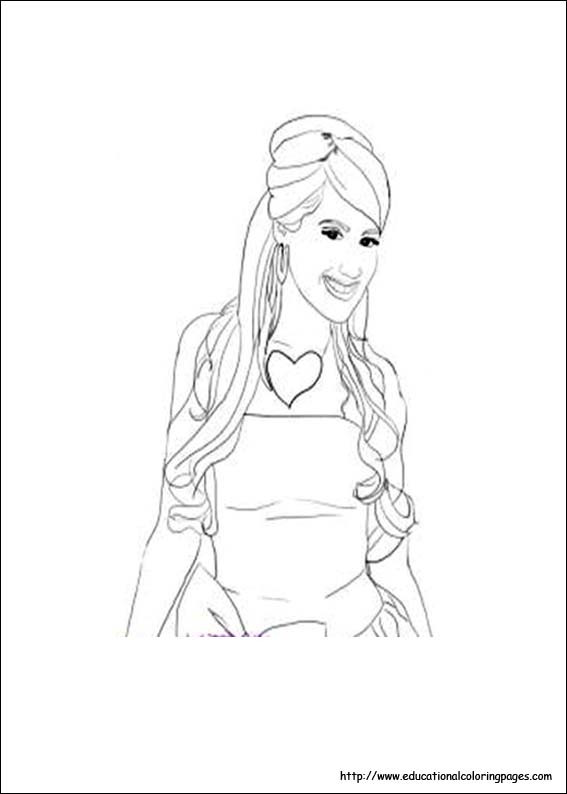 Coloring Pages For Girls Intermidiet  High School Musical Educational Fun Kids Coloring Pages