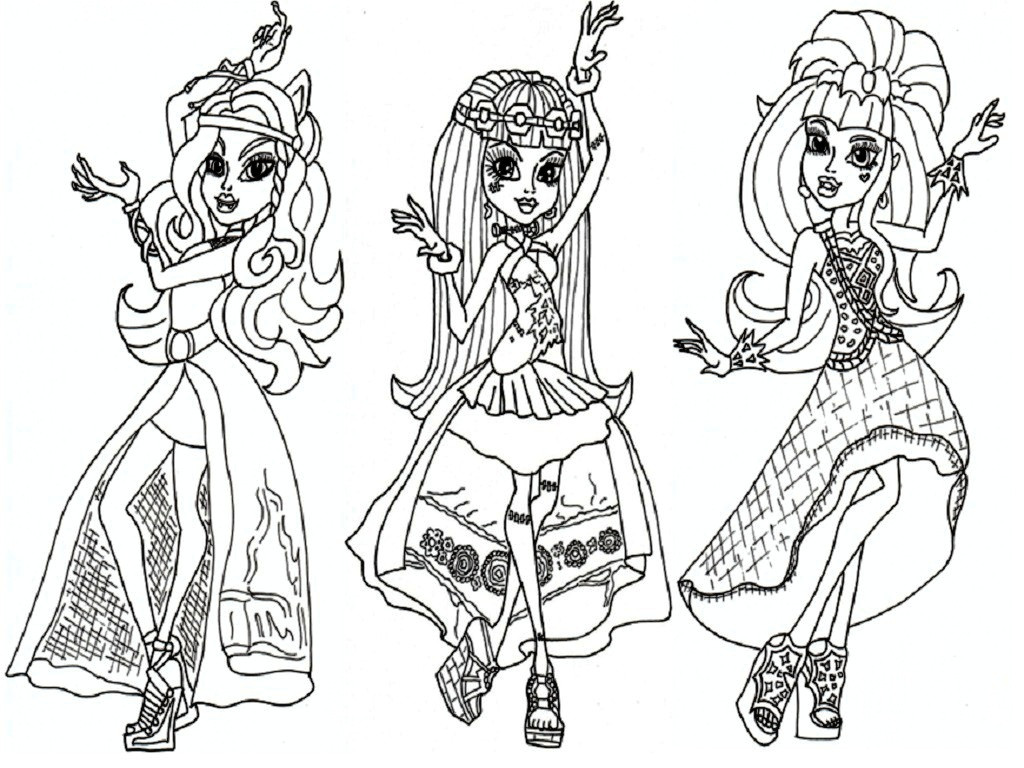 Coloring Pages For Girls Monster High Printable  Coloring Pages for Girls Monster High Bestofcoloring