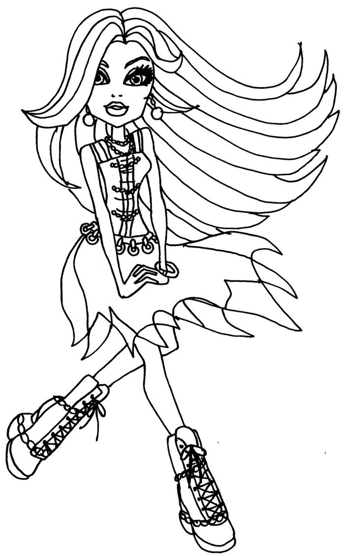 Coloring Pages For Girls Monster High Printable  Free Printable Monster High Coloring Pages for Kids