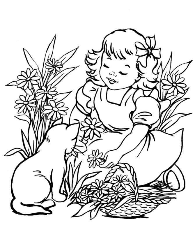 Best ideas about Coloring Pages For Girls Of Cats With Tearas . Save or Pin Dibujos Tiernos de Niñas para Pintar y Colorear Imágenes Now.