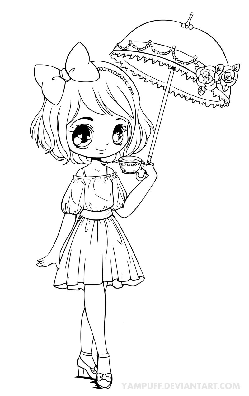 Best ideas about Coloring Pages For Girls People . Save or Pin Anime Girl Coloring Pages coloringsuite Now.