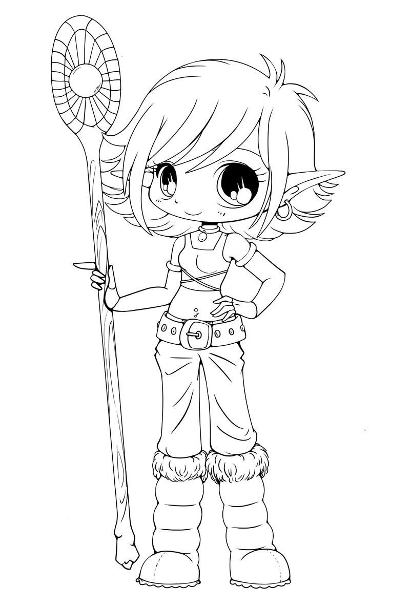 Best ideas about Coloring Pages For Girls People . Save or Pin Free Printable Chibi Coloring Pages For Kids Now.