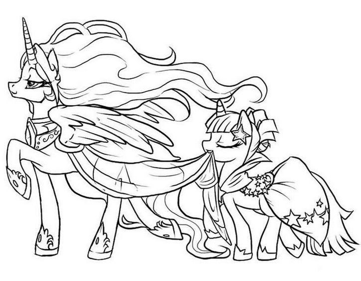 Coloring Pages For Girls Princess Celestia  Princess Celestia Mlp Coloring Pages For Girls