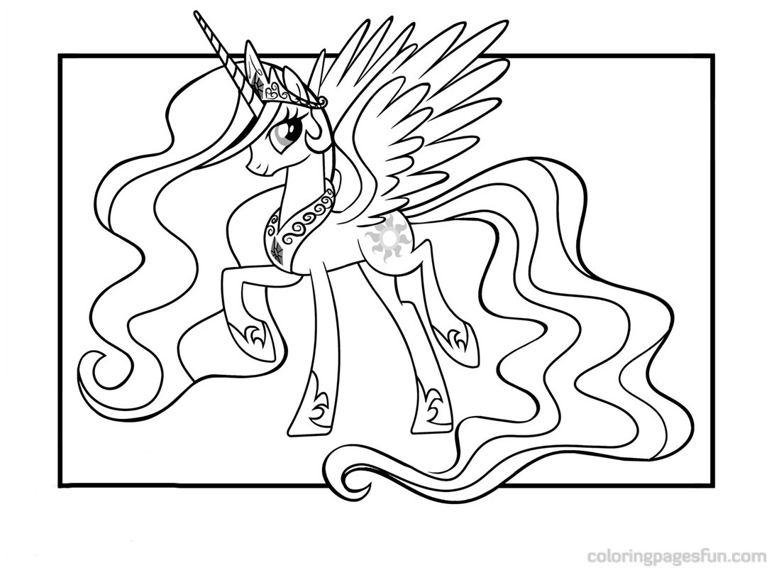 Coloring Pages For Girls Princess Celestia  How To Draw A Rainbow Unicorn Step By Step PENCIL