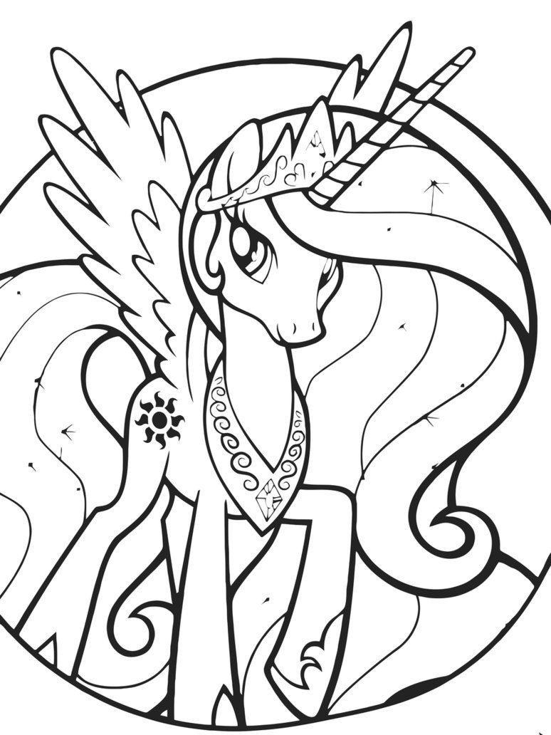 Coloring Pages For Girls Princess Celestia  Princess Celestia Coloring Pages Best Coloring Pages For