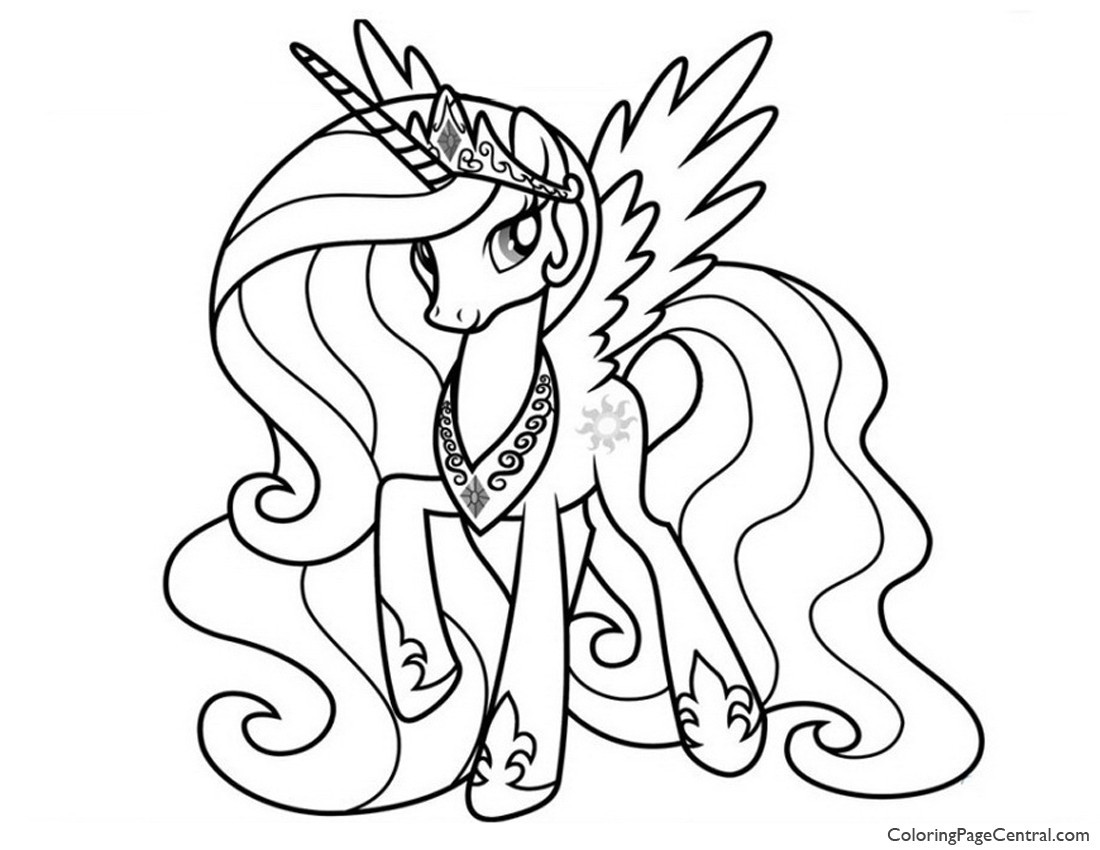 Coloring Pages For Girls Princess Celestia  My Little Pony – Princess Celestia 02 Coloring Page