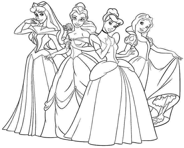 Coloring Pages For Girls Princess  How Print Coloring Pages Disney Princess Free For Boys