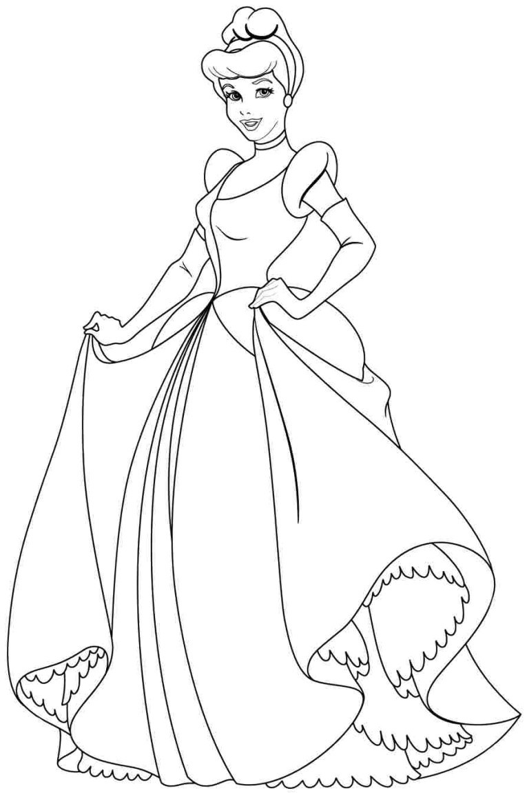 Coloring Pages For Girls Princess  Disney Cinderella Coloring Pages Bestofcoloring