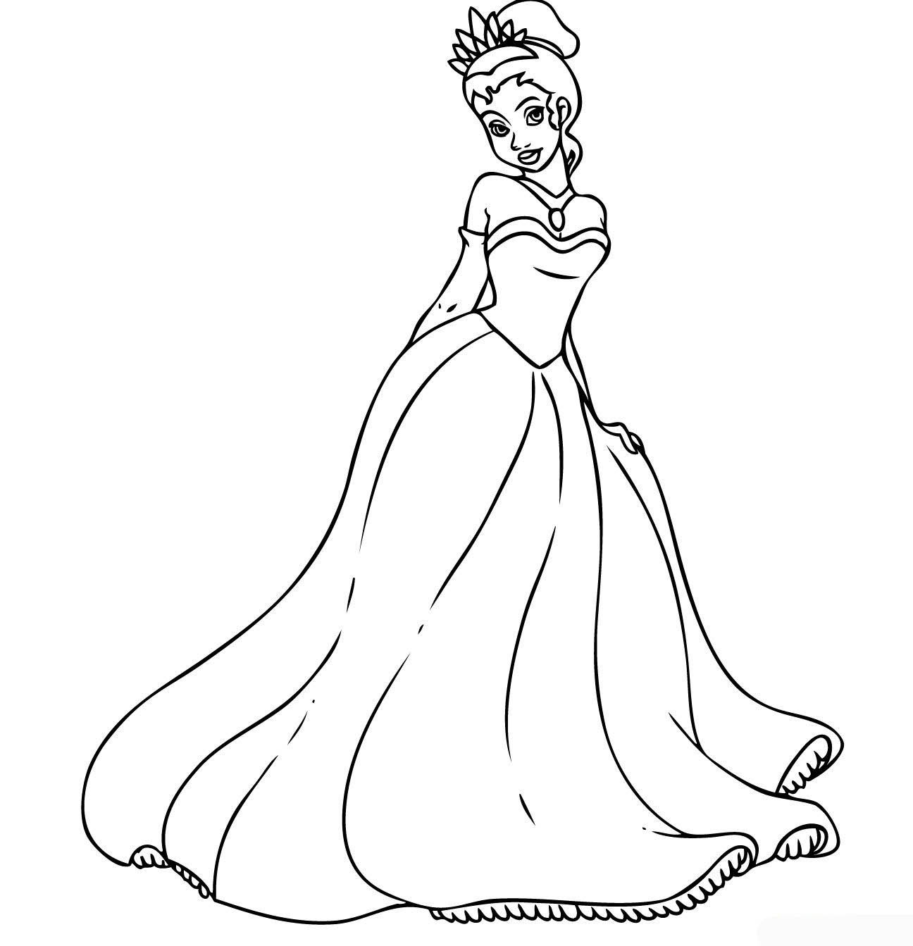 Coloring Pages For Girls Princess  princess coloring pages for girls Free