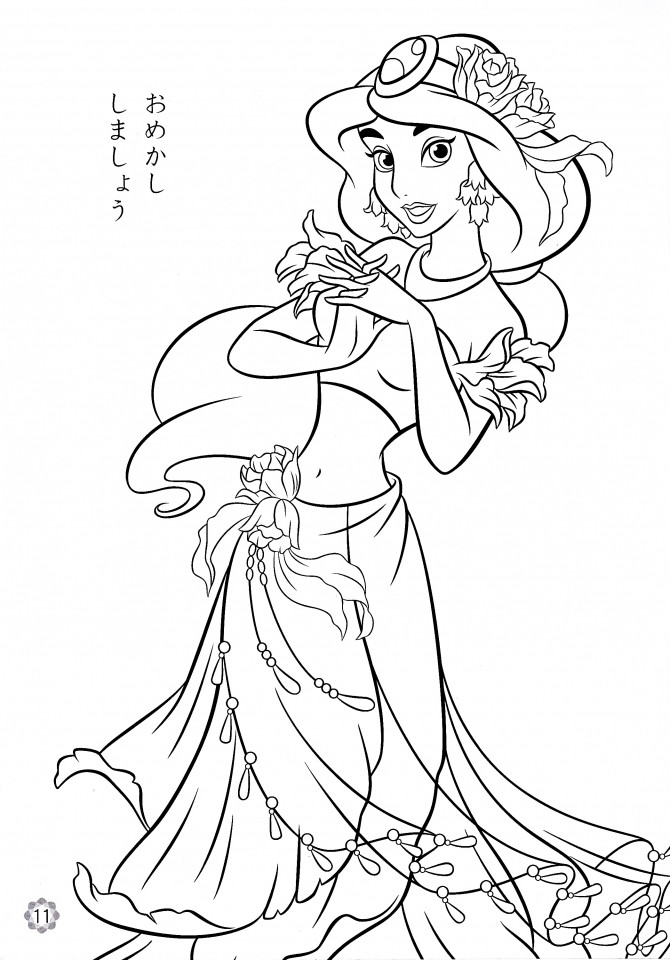 Coloring Pages For Girls Princess  Get This Princess Jasmine Printable Coloring Pages for