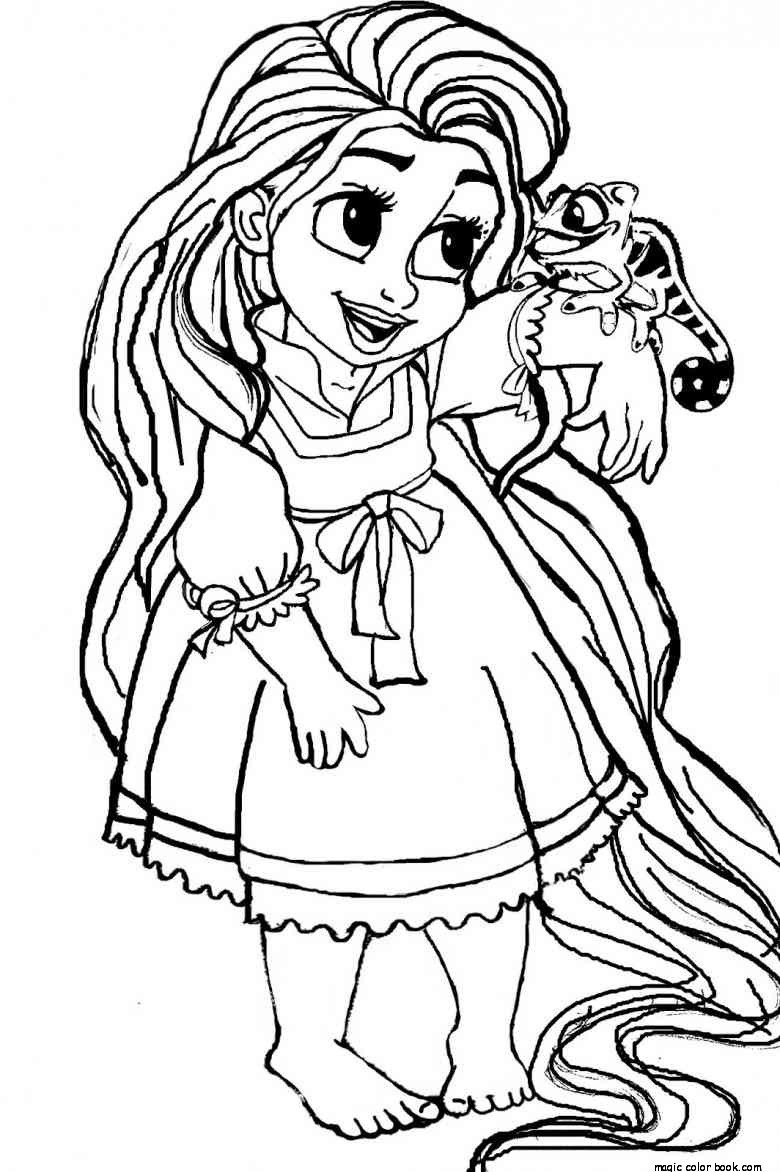 Coloring Pages For Girls Princess  Princess Coloring Pages To Print For Girls – Color Bros
