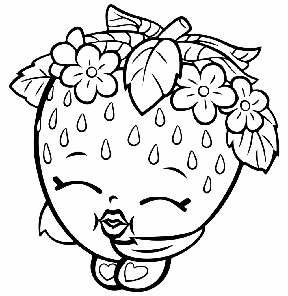 Coloring Pages For Girls Shopkins Apple  Shopkins Coloring Pages Best Coloring Pages For Kids